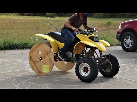 We Made Wooden Drift Quad Wheels!