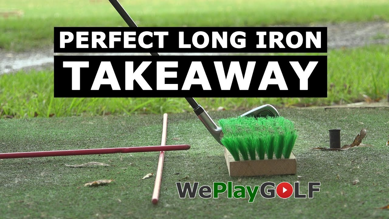 The PERFECT TAKEAWAY with LONG IRON - GOLF practice