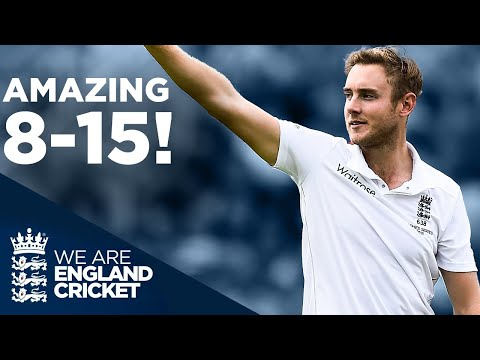 Stuart Broad's Incredible 8 For 15! | Unbelievable Bowling Spell | The Ashes 2015 | England Cricket