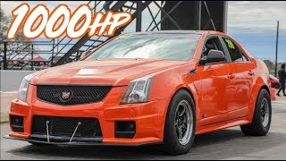 Felicia's 1000HP Cadillac CTSV Wheelies and Street Racing! by  That Racing Channel