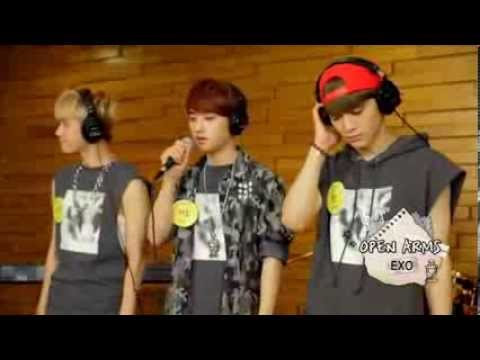 'Open Arms'-EXO's Baekhyun, D.O, Chen and Luhan's singing cut @A Song For You Ep 1