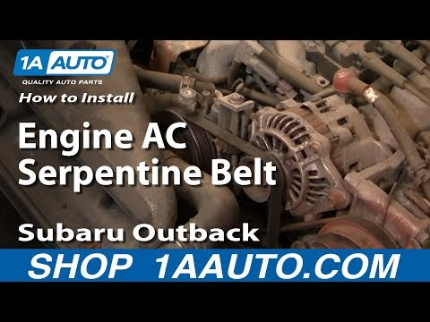 How To Install Replace Engine AC Serpentine Belt Subaru Outback 2.5L 00-04 1AAuto.com