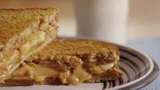 Sandwich Recipe - Grilled Peanut Butter And Banana Sandwich