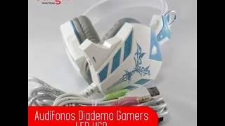 Audífonos Diadema para Gamers - LED y USB