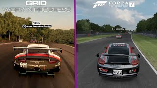 GRID 2019 vs Forza Motorsport 7 -  4K UPSCALED Porche 911 Brands Hatch  ( Early Graphics Comparison) by DigitalModz