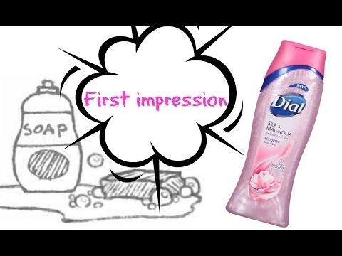New!!! Dial Silk Magnolia liquid body soap: First impression...