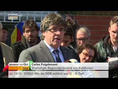 Statement von Carles Puigdemont nach seiner Freilassung ...