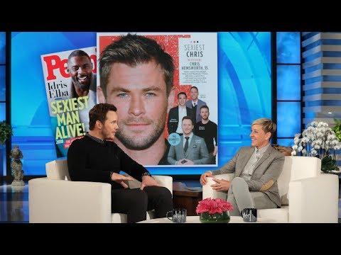 Download Chris Hemsworth Has Chris Pratt's Vote for 'Sexiest Chris' HD Mp4 3GP Video and MP3