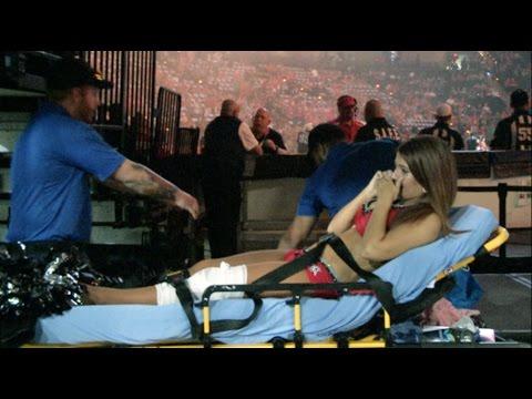 Jacksonville Sharks Attack Dance Team Morgan Rae Injury June 6 2015 Home Game