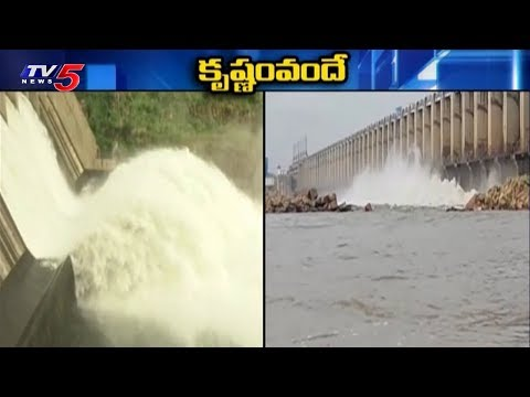 Srisailam Project Water Level Reaches 882 Ft | Flood Water Inflows | TV5 News