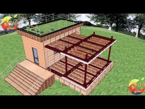 Процесс перестройки здания с использованием опции 2 и еще 1 модуля