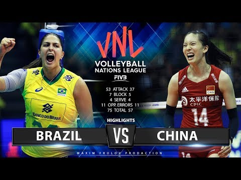 Brazil Vs. China | Highlights | Women's VNL 2019
