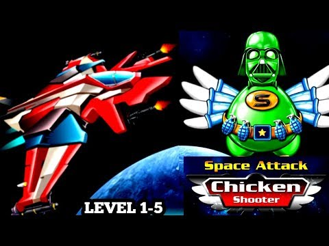 Space Attack Chicken Shooter Gameplay 1-5