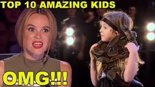Video [MOST AMAZING KIDS] BEST TOP 10 AUDITIONS EVER ON BRITAIN'S GOT TALENT! MP3, 3GP, MP4, WEBM, AVI, FLV Agustus 2019