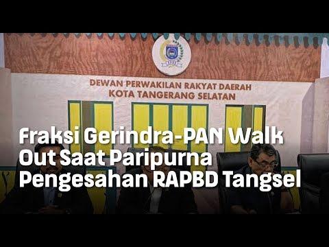 Fraksi Gerindra-PAN Walk Out Saat Paripurna   Pengesahan RAPBD Tangsel