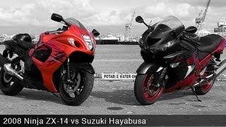 2. 2008 Kawasaki Ninja ZX-14 vs Suzuki Hayabusa - MotoUSA