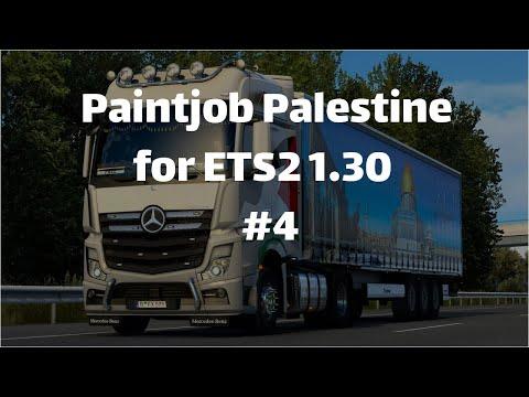 Skin Truck Palestine For ETS2 1.31