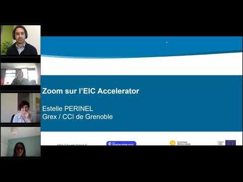 Webinaire - EIC Accelerator : Comment financer les innovations de rupture jusqu'au marché