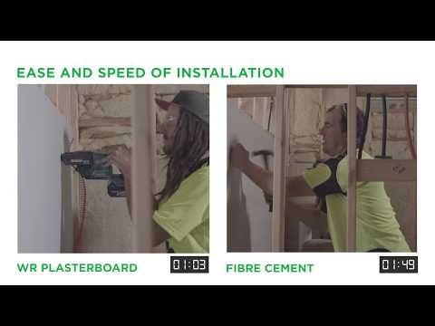 USG Boral Water-Resistant Plasterboard vs. Fibre Cement Sheeting
