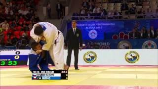 Kirill Denisov (Russia) vs Rafael Romo (Chile) World Judo Championships 2015 - AstanaJudo - 90kg