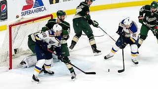 Watch as Vladimir Tarasenko makes it look easy when he skates in front of the Wild net and scores to put the Blues up 1-0.