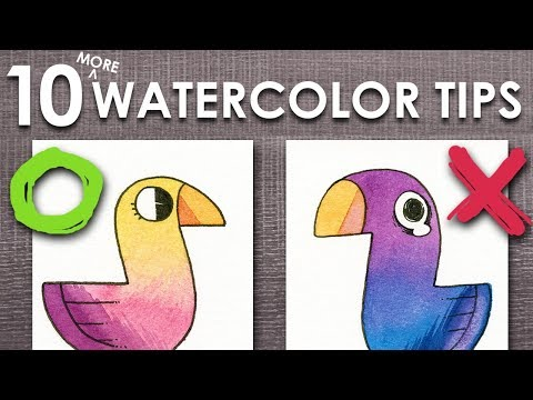 10 (MORE) WATERCOLOR TIPS ( For Beginners!)