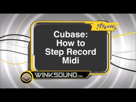 Cubase: How to Step Record MIDI | WinkSound
