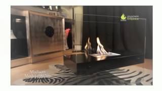 With the appearance that the flame is floating in mid-air, the Madison Freestanding Ethanol Fireplace by Anywhere Fireplace adds aesthetic appeal and function ...
