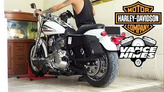 10. Harley Davidson Dyna Super Glide 35TH Anniversary 2006 Exhaust VANCE & HINES (istimewa)