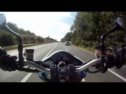 CB 1000 R 0-200 kmh Acceleration-Test (GoPro HD) (видео)