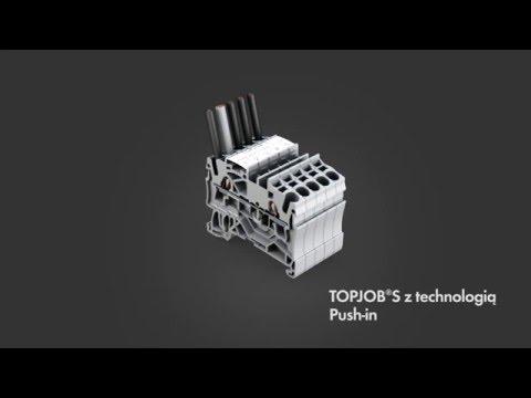 WAGO.PL - Złączki listwowe TOPJOB S z bezpieczną technologią zacisku Push-In CAGE CLAMP