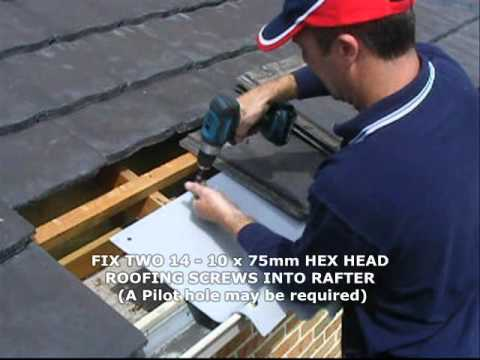 How to Install SafetyLink Height Safety Anchors the LadderLink on a Tile Roof