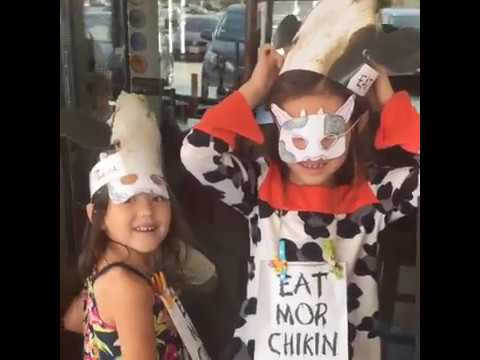 Kids first Chick-fil-A Cow appreciation day!