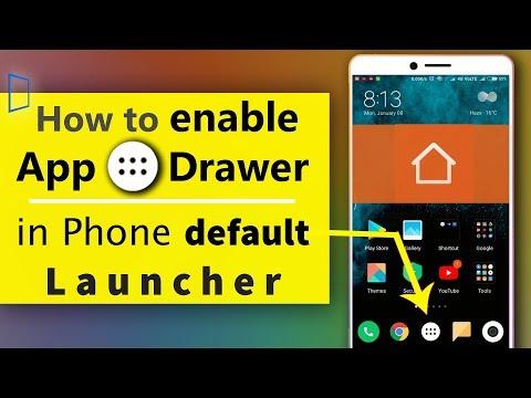 How to App drawer | app launcher redmi | app drawer in mi phone | app launcher xiaomi. 😱👍