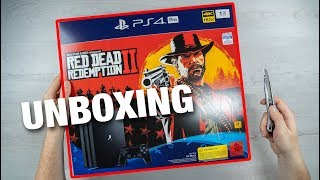 PlayStation 4 Pro - Red Dead Redemption 2 Bundle - CONSOLE UNBOXING + GAMEPLAY