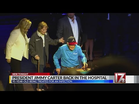 Former President Carter hospitalized for infection