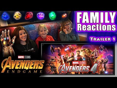 Avengers 4 Official Trailer 1 | FAMILY Reactions