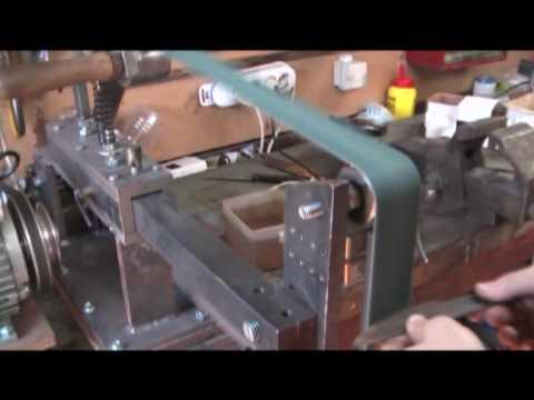 Home made belt grinder