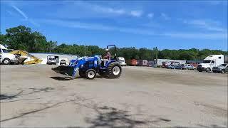 7. Sold! 2016 New Holland Workmaster 37 Farm Utility Tractor 4WD bidadoo.com