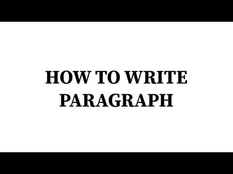 HOW TO WRITE PARAGRAPH ?(HANDWRITTEN ASSIGNMENT)