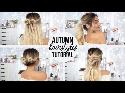 4 QUICK & EASY HAIRSTYLES FOR AUTUMN!