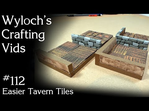 112 - Easier Tavern Tiles (DIY For Dungeons And Dragons, Pathfinder, Etc.)