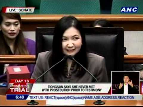 """Cuevas leads cross examination of Tiongson, asks her about a """"very important client"""""""