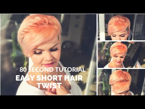 Short hair styles - Easy short hair style  short hair tutorial