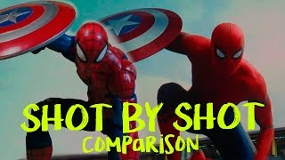 Video Spiderman entrance in Civil War - Shot by shot COMPARISON download in MP3, 3GP, MP4, WEBM, AVI, FLV January 2017