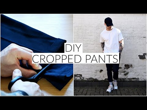 *EASY* DIY CROPPED PANTS TUTORIAL | Men's Fashion | Daniel Simmons