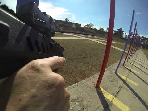 Quad-copter gets a little close during Tavor range review