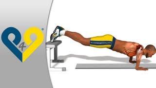 تمرينات الضغط -- مع إرتكاز القدمين على درجة مرتفعة