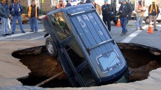 Unpredictable forces of nature that you might not know about. Music:http://soundcloud.com/indigolab/lost-in-the-crowdCourtesy of Getty Images: Landslide Creates Large Sinkhole Near San DiegoKent Horner/Getty ImagesLandslide Creates Large Sinkhole Near San DiegoKent Horner/Getty ImagesSink Hole Swallows Car In Chevy Chase, MarylandLogan Mock-Bunting/Getty ImagesSink Hole Swallows Car In Chevy Chase, MarylandLogan Mock-Bunting/Getty ImagesSink Hole Swallows Car In Chevy Chase, MarylandLogan Mock-Bunting/Getty ImagesJersey Shore Communities Continue Recovery Efforts From Superstorm SandyMark Wilson/Getty ImagesSinkhole Swallows Three Cars On South Side Of ChicagoScott Olson/Getty ImagesSinkhole Swallows Three Cars On South Side Of ChicagoScott Olson/Getty ImagesLandslide Creates Large Sinkhole Near San DiegoKent Horner/Getty ImagesSinkhole Swallows Three Cars On South Side Of ChicagoScott Olson/Getty ImagesA Ford Explorer sits nose-first inside a 15-foot-by-20-foot-...New York Daily News Archive/ContributorSeries Of Tornadoes Rips Through Oklahoma City AreaJustin Sullivan/Getty ImagesSmart Galleries:A man inspectas a sinkhole formed in a hAFP/Getty Images/SmartGalleriesCHINA-ACCIDENT-SINKHOLEAFP/Getty Images/SmartGalleries http://buzzfeedgalleries.smartgalleries.net/gallery_console/photo/08cZeXL0qEa9DNo Title GivenAP/SmartGalleriesTOPSHOTS-CHINA-ACCIDENT-SINKHOLEAFP/Getty Images/SmartGallerieshttp://buzzfeedgalleries.smartgalleries.net/gallery_console/photo/01gbdBT4Cw2AJNo Title GivenAP/SmartGalleriesWorkers use excavators to fill in a sinkAFP/Getty Images/SmartGallerieshttp://buzzfeedgalleries.smartgalleries.net/gallery_console/photo/08e4ct87fI8umNo Title GivenClackamas Fire District #1/SmartGallerieshttp://buzzfeedgalleries.smartgalleries.net/gallery_console/photo/09eWaBkcZs0OoNo Title GivenAP/SmartGalleriesA local resident throws a stone into a sinkhole near Qingquan primary school in Dachegnqiao town of NingxiangSTRINGER SHANGHAI/REUTERS/SmartGalleries10-metre-wide