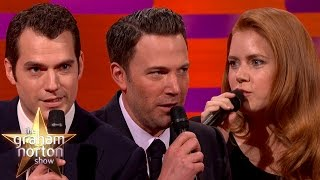 Henry Cavill, Ben Affleck and Amy Adams Do The Batman Voice - The Graham Norton Show